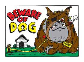 Hy-Ko Products 20542 Sign Beware Of Dog