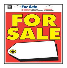Hy-Ko Products 22606 Sign For Sale With Tag123/4x13