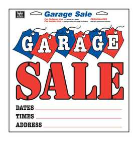 Hy-Ko Products 22608 Sign Garage Sale With Tags