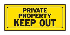 Hy-Ko Products 23006 Sign Private Property Keep Out