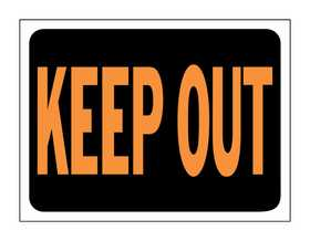 Hy-Ko Products 3010 Sign Keep Out 9x12
