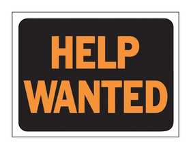 Hy-Ko Products 3034 Sign Help Wanted 9x12