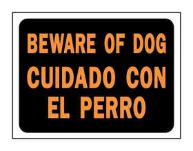 Hy-Ko Products 3060 English/Spanish Sign Beware Of Dog