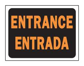 Hy-Ko Products 3061 English/Spanish Sign Entrance