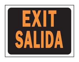 Hy-Ko Products 3062 English/Spanish Sign Exit