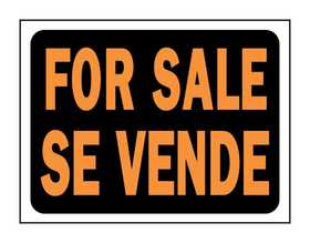 Hy-Ko Products 3064 English/Spanish Sign For Sale