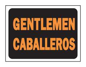 Hy-Ko Products 3065 English/Spanish Sign Gentlemen