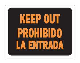 Hy-Ko Products 3066 English/Spanish Sign Keep Out