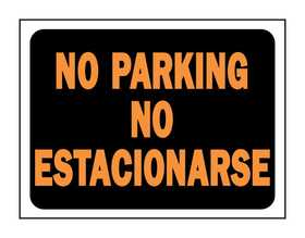 Hy-Ko Products 3068 English/Spanish Sign No Parking