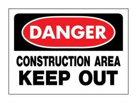 Hy-Ko Products 520 Sign Danger Construction Area Keep Out