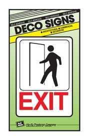 Hy-Ko Products D-15 Sign Exit 5x7
