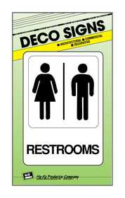 Hy-Ko Products D-23 Sign Restroom 5x7
