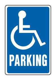 Hy-Ko Products HW-13 Sign Handicapped Parking 12x18