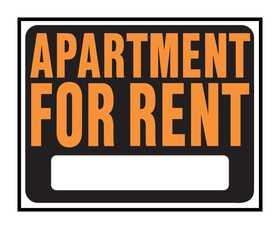 Hy-Ko Products SP-117 Sign Apartment For Rent 15x19