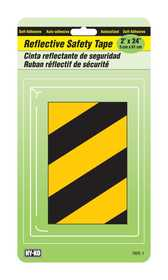 Hy-Ko Products TAPE-1 Reflector Black/Yellow Stripes