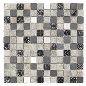 ICL E-319 Earth Stone Collection E319 12x12 in Mosaic Tile Sheet