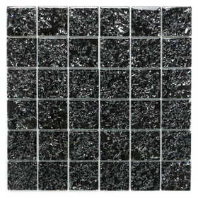 ICL I-131 Crackle Glass Collection I131 12x12 in Glass Mosaic Tile Sheet