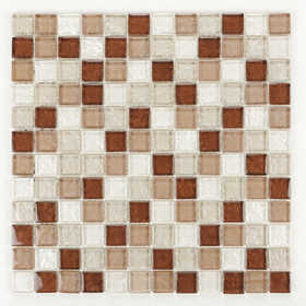 ICL E-296 Sand Glass Collection E296 12x12 in Mosaic Tile Sheet