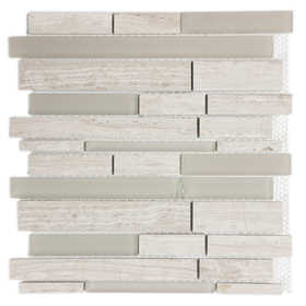 ICL H-2170 Marble Mix Collection H2170 12x12 in Mosaic Tile Sheet