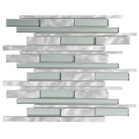 ICL H-487 Metal Wave Collection H487 12x12 in Mosaic Tile Sheet