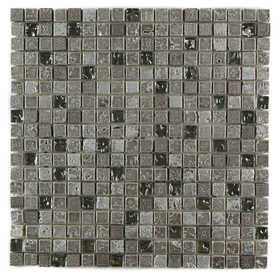 ICL B-476 Marble Mix Collection B476 12x12 in Mosaic Tile Sheet