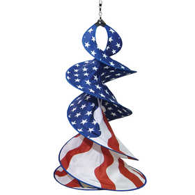 In The Breeze ITB-4747 Patriot Spin Duet Hanging Garden Decoration