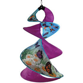 In The Breeze ITB-4755 Butterfly Spin Duet Hanging Garden Decoration