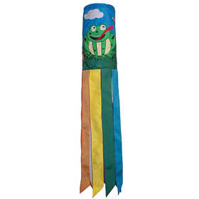In The Breeze ITB-4188 Frog On Lily Pad Garden Windsock 40 in
