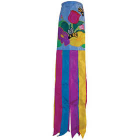 In The Breeze ITB-4164 Floral Bee Garden Windsock 40 in