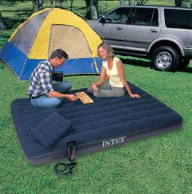 Intex Recreation 68765E Queen Classic Downy Bed With Pump