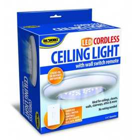 IdeaWorks JB5571 LED Cordless Ceiling Light With Remote