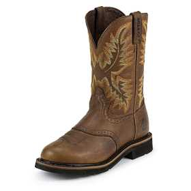 Justin Boots WK4655 Men's Sunset Cowhide Stampede Work Boots 11.5d