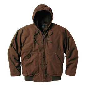 Key Industries 337.27 Premium Fleece Lined Hooded Jacket Bark 2xLarge Regular