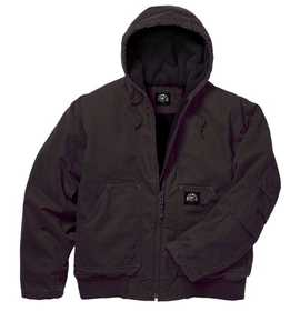 Key Industries 376.27 Premium Insulated Fleece Lined Hooded Jacket, Bark Xlr