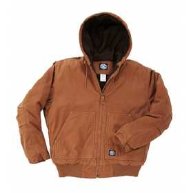 Key Industries 376.28 Premium Insulated Fleece Lined Hooded Jacket, Saddle3XLarge Regular