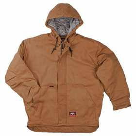 Key Industries 387.21 Flame Resistant Insulated Duck Hooded Jacket, Caramel Medium Regular