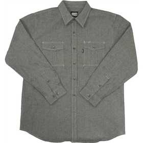 Key Industries 527.02 Men's Chambray Long Sleeve Shirt Black XLarge Regular
