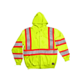 Key Industries 879.39 Class 3 Hi-Visibility Hooded Sweatshirt Large