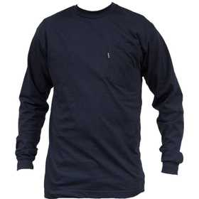 Key Industries 860.4 Long Sleeve T-Shirt Navy XLarge Regular