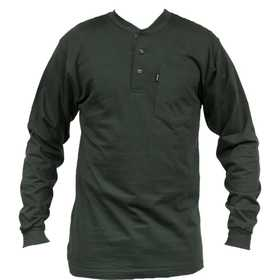 Key Industries 865.36 4x-Large Tall Heavyweight 3-Button Henley Pocket T-Shirt
