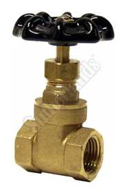 Waxman 403600 Gate Valve 1/2 in Brass