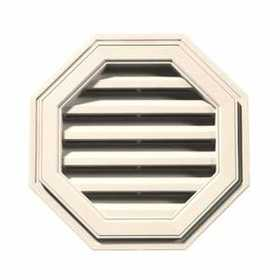 Builders Edge 120012222013 Vent Octagon 22 in Beige Cap