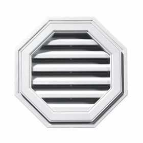 Builders Edge 120012222123 Vent Octagon 22 in White Cap