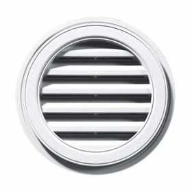 Builders Edge 120032222123 White Round Vent Cap 22 in