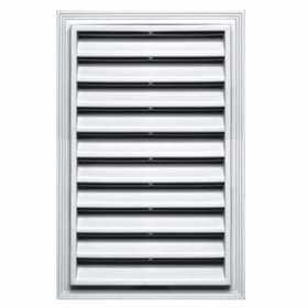 Builders Edge 120061218123 White Rectangle Vent Cap 12x18