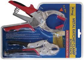 King Tools & Equipment 0052-0 Pliers Ratchet Clamp & Locking 2pc