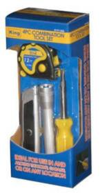 King Tools & Equipment 0177-0 Home Fix It Kit 4pc