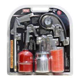King Tools & Equipment 0431-0 5-Piece Air Tool Set