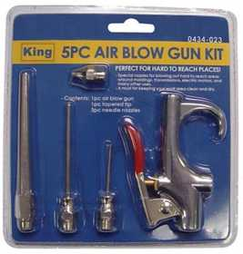 King Tools & Equipment 0434-0 Gun Air Blow 5pc