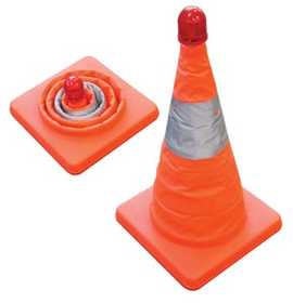 King Tools & Equipment 0677-0 Road Safety Cone With Light Collapsible